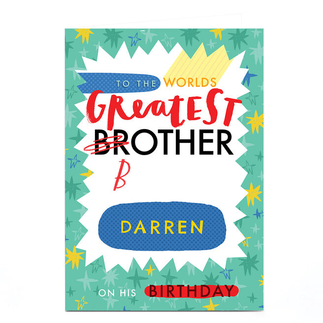 Personalised Jordan Wray Birthday Card - Brother