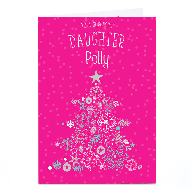 Personalised Christmas Card - Gorgeous Daughter