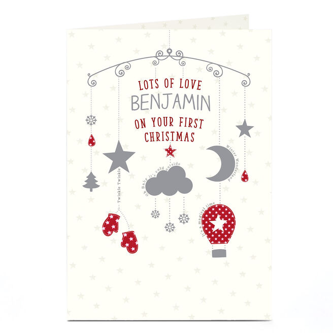 Personalised 1st Christmas Card - Lots Of Love