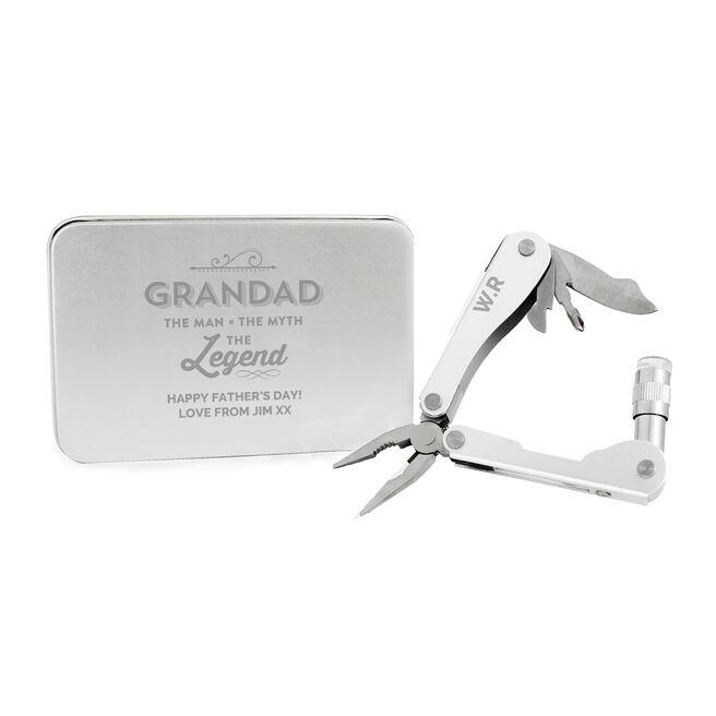 Personalised Multi Tool - Grandad The Legend