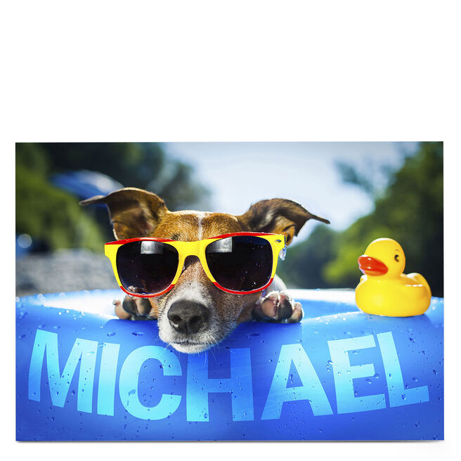 Personalised Card - Dog In Sunglasses