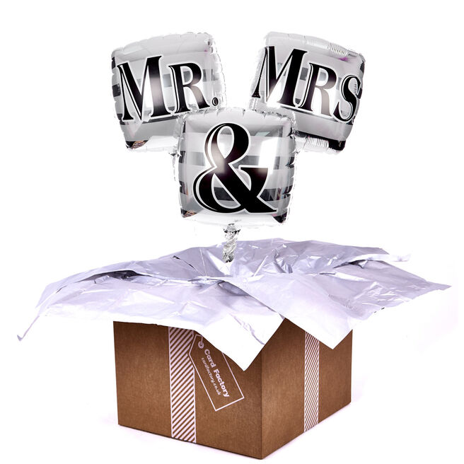 Square Mr and Mr Balloon Bouquet - DELIVERED INFLATED!