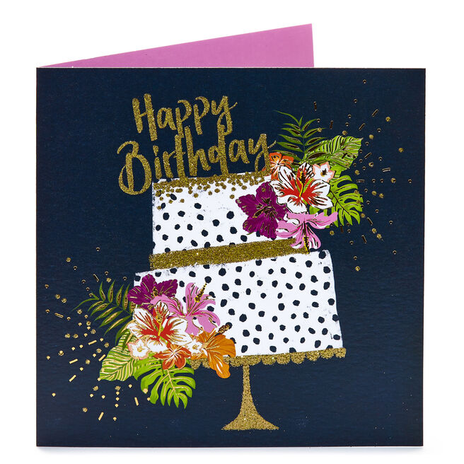 Birthday Card - Sparkling Cake
