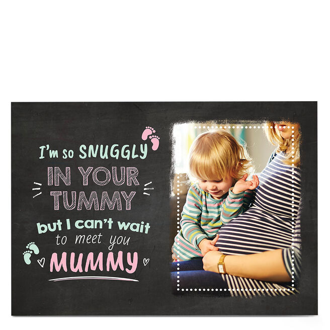 Photo Mother's Day card - Snuggly In Your Tummy
