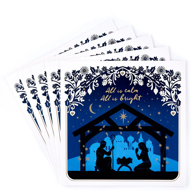 Charity Christmas Cards - All Is Bright Pack Of 10