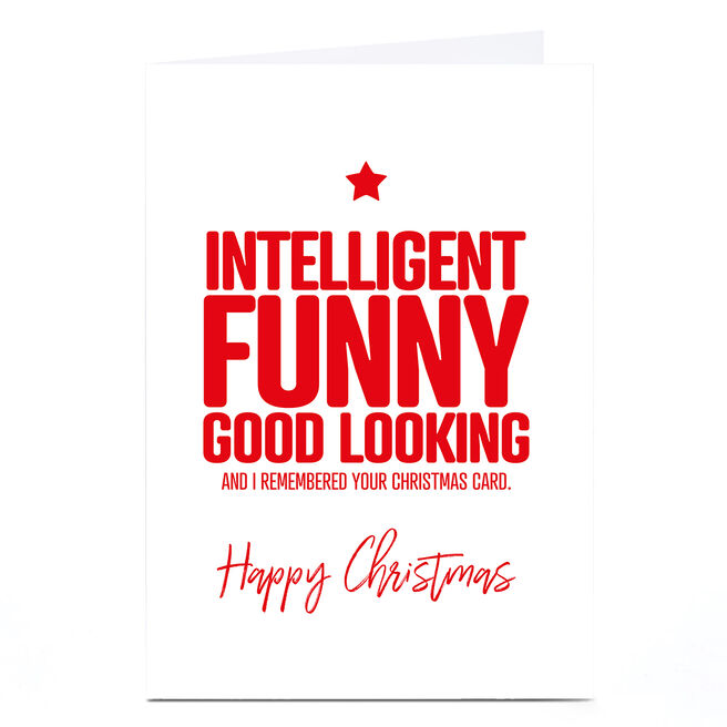 Personalised Punk Christmas Card - Intelligently Funny