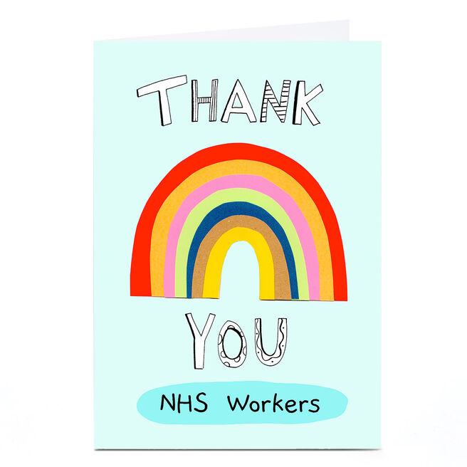 Personalised Thank You Card - Big Rainbow