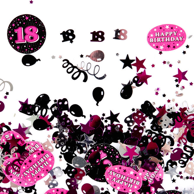 18th Birthday Pink Foiletti - Pack Of Three