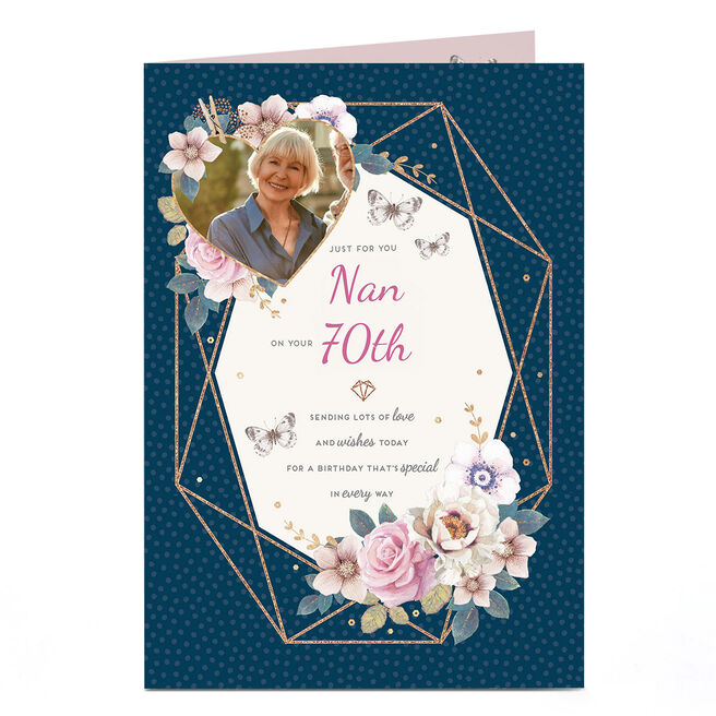 Photo 70th Birthday Card - Special in Every Way