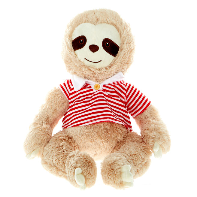 Large Sloth In A T-Shirt Soft Toy