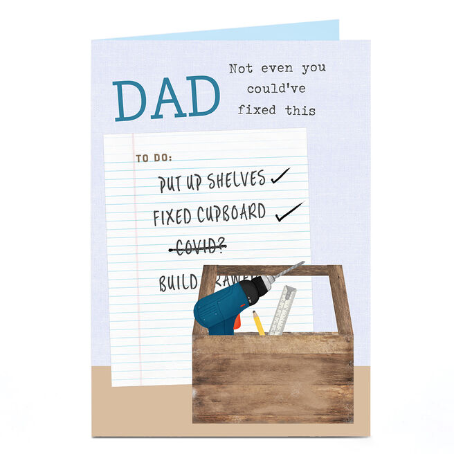 Personalised Covid Birthday Card - Dad To Do List