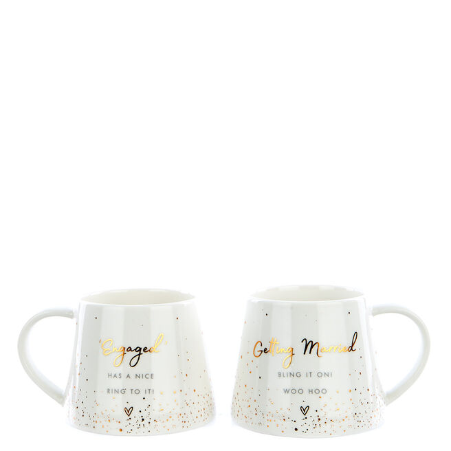 Perfect Together Happy Engagement Twin Mug Gift Set