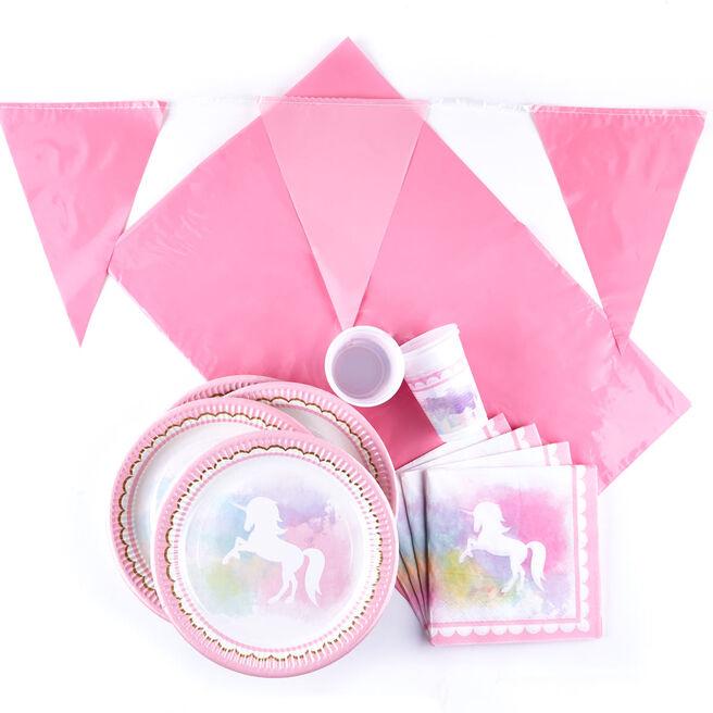 Unicorn Party Tableware Bundle - 74 Pieces