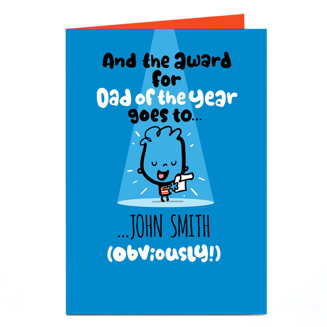 Personalised Fruitloops Father's Day Card - Dad Of The Year