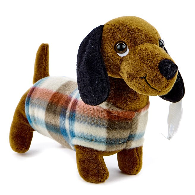 Sausage Dog In A Coat Soft Toy