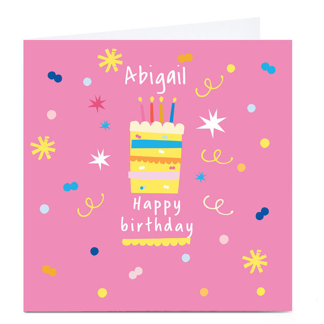 Personalised Squirrel Bandit Birthday Card - Birthday Cake