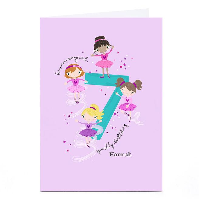 Personalised Rachel Griffin Birthday Card - 7, Sparkly Birthday
