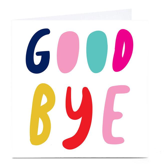 Personalised Hello Munki Card - Good Bye
