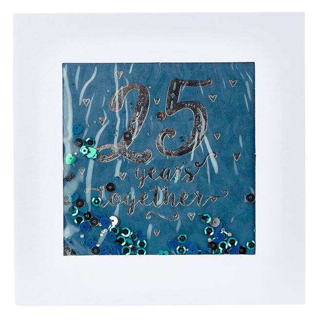 Boutique Collection 25th Anniversary Card - Falling Sequins