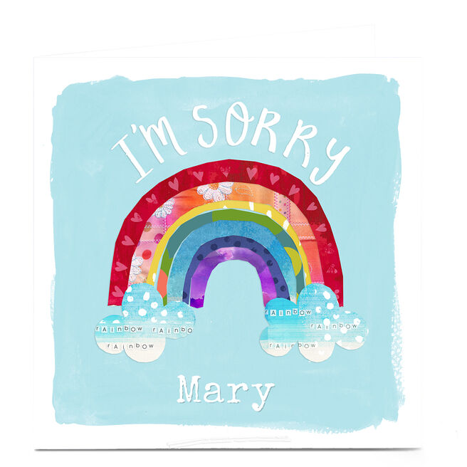 Personalised Kerry Spurling Card - Rainbow I'm Sorry