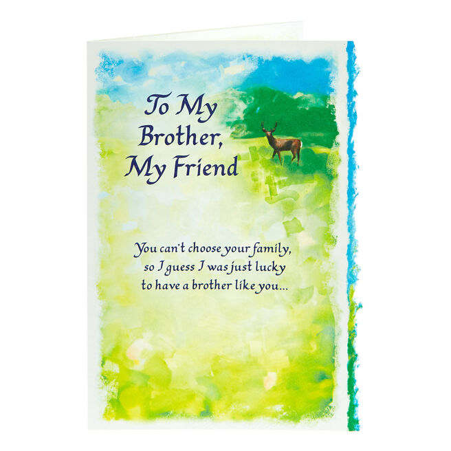 Blue Mountain Arts Card - My Brother, My Friend