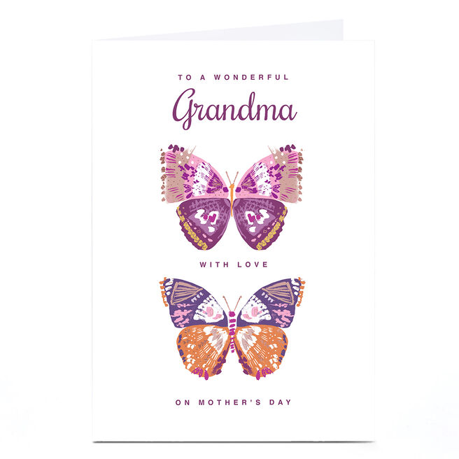 Personalised Rebecca Prinn Mother's Day Card - Butterflies