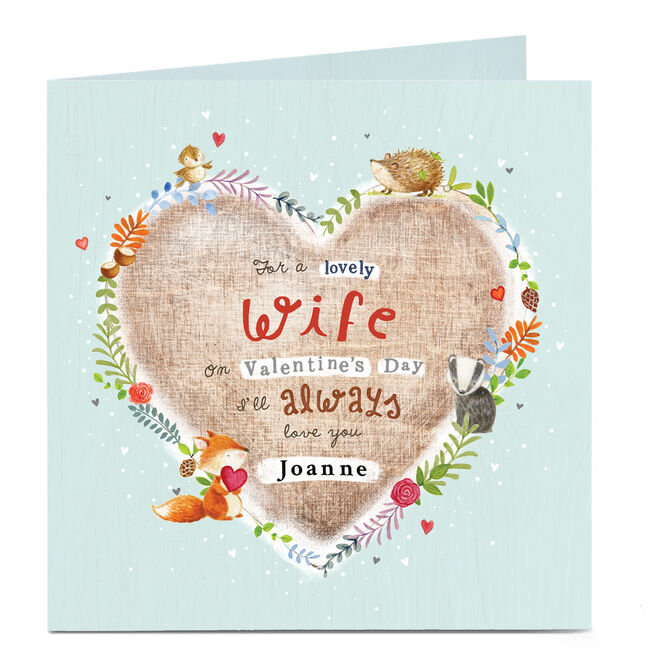 Personalised Valentine's Card - Scenes Of Nature