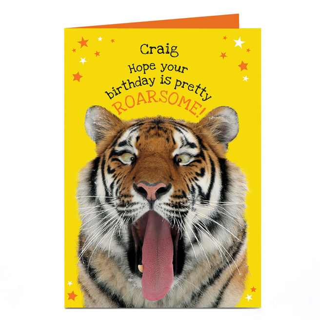 Personalised Heritage Wild Birthday Card - Pretty Roarsome