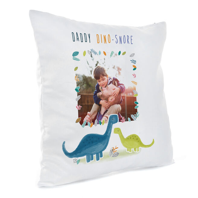 Personalised Father's Day Photo Cushion - Daddy Dino-Snore