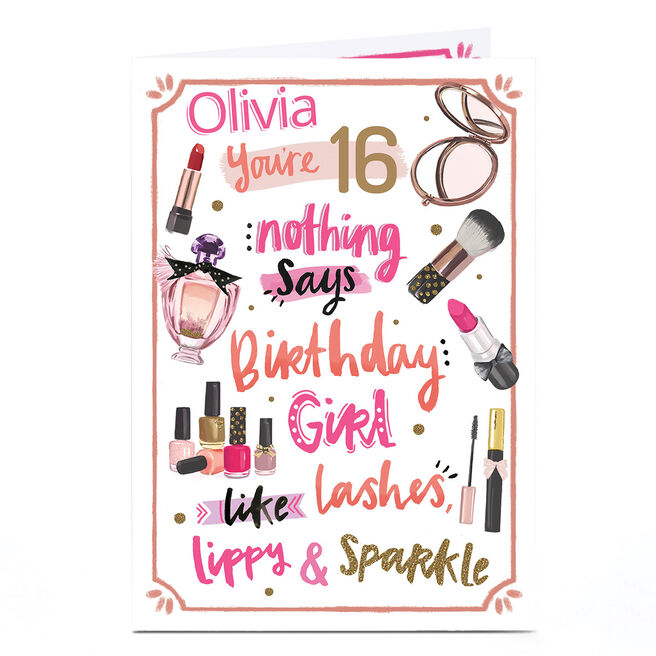Personalised Any Age Birthday Card - Girly Birthday Girl