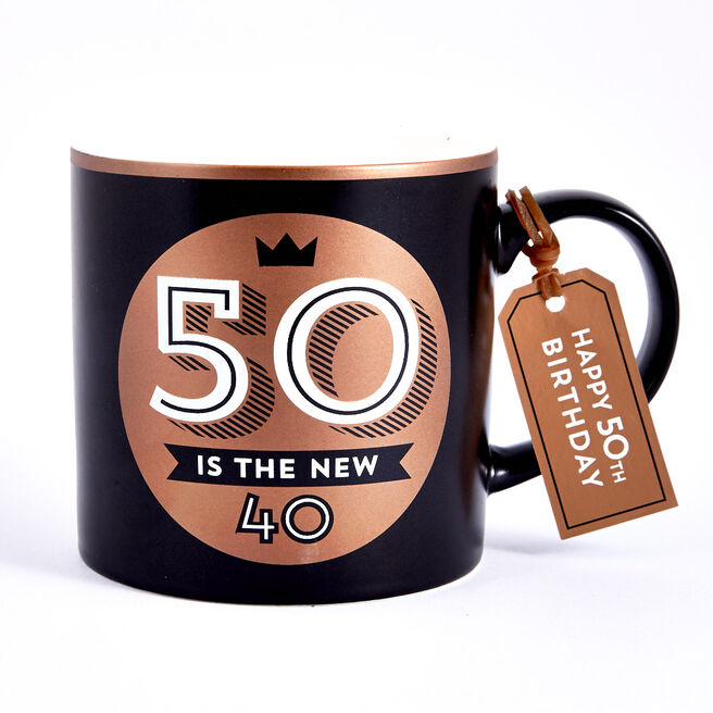 50th Birthday Mug - 50 Is The New 40