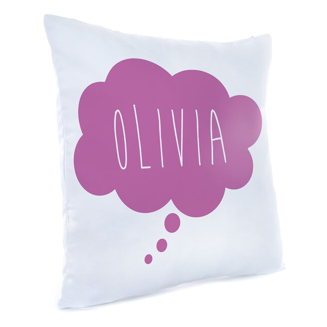 Personalised Cushion - Purple Cloud