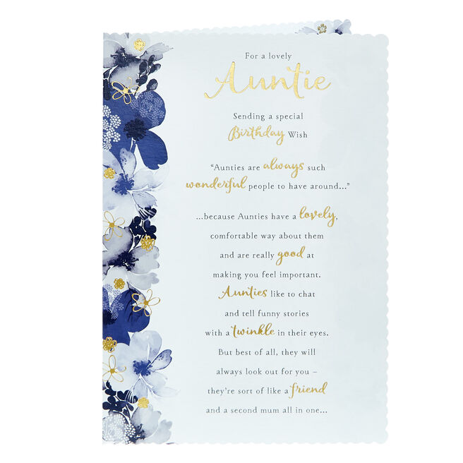 Birthday Card - For A Lovely Auntie