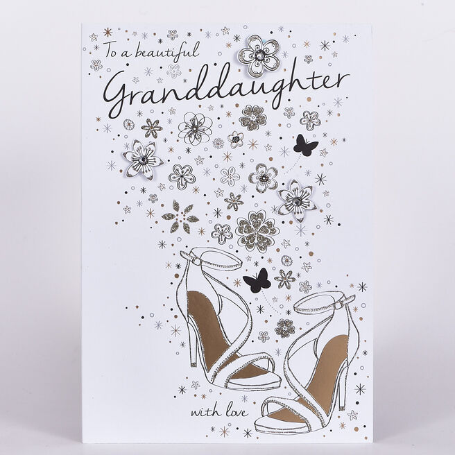 Signature Collection Birthday Card - Granddaughter Shoes