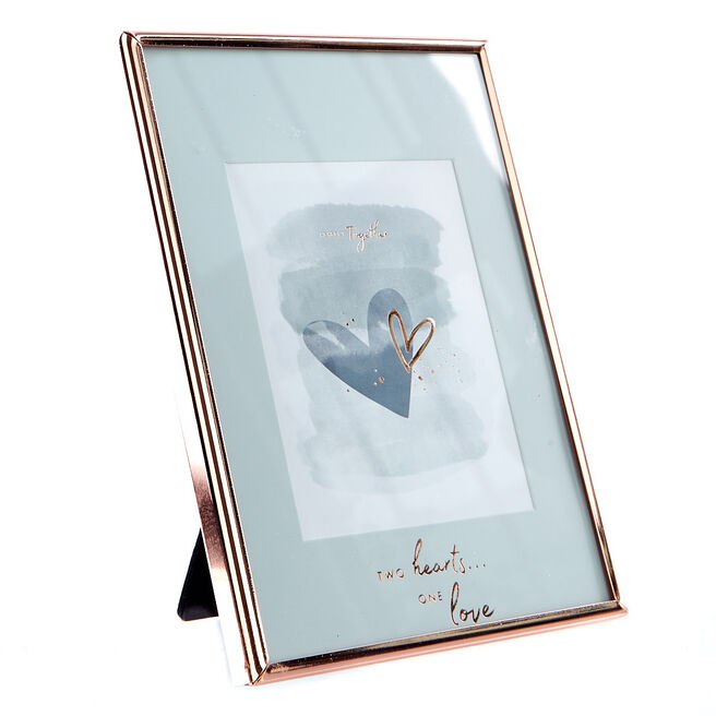 Perfect Together Rose Gold Picture Frame - Two Hearts One Love