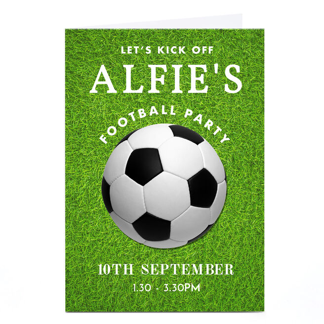 Personalised Party Invitation - Football Party