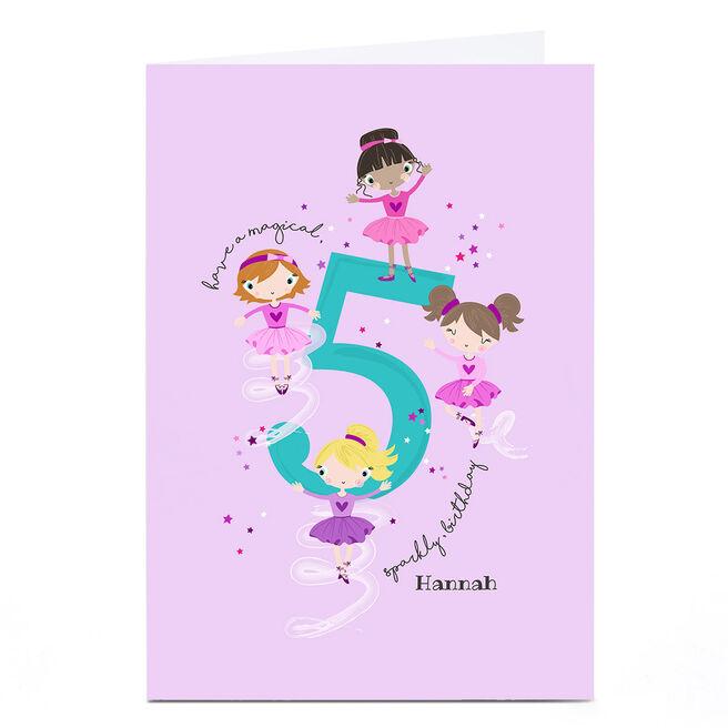 Personalised Rachel Griffin Birthday Card - 5, Sparkly Birthday