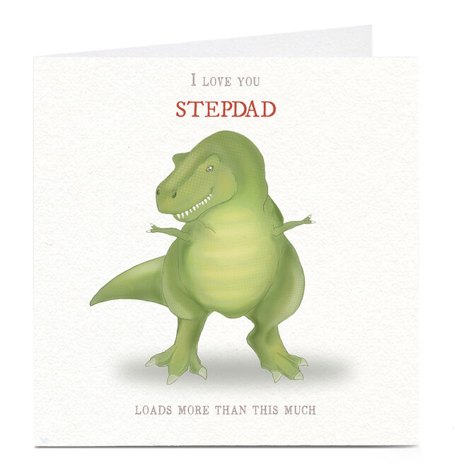 Personalised Father's Day Card - Dinosaur Any Recipient
