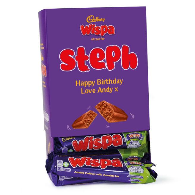 Personalised Cadbury Wispa Box - 20 Bars