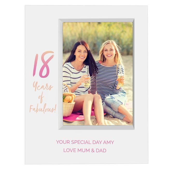 Personalised 18th Birthday Box Photo Frame - Pastel Gradient