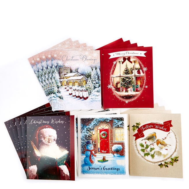Boxed Value Christmas Cards - Pack of 30