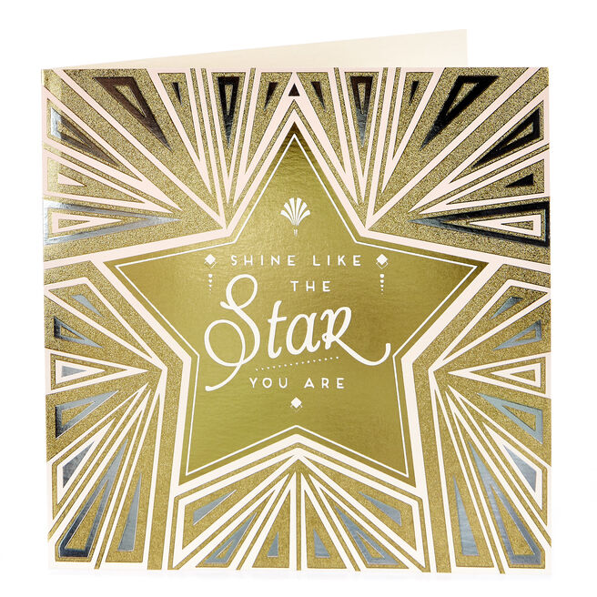 Blank Card - Shine Like The Star You Are