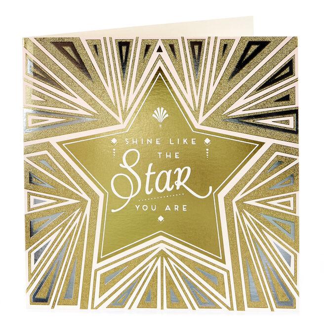 Blank Card - Shine Like The Star You Are