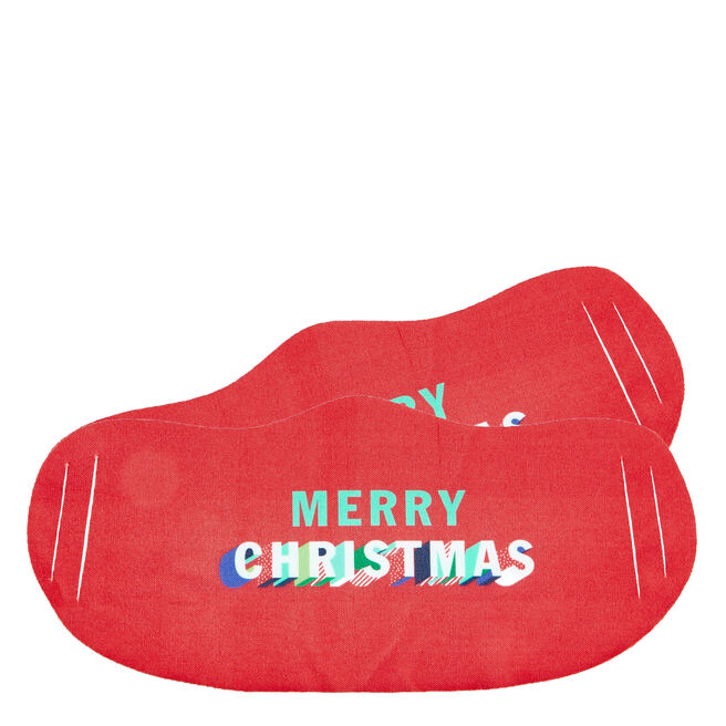 Washable Merry Christmas Face Coverings - Pack Of 2