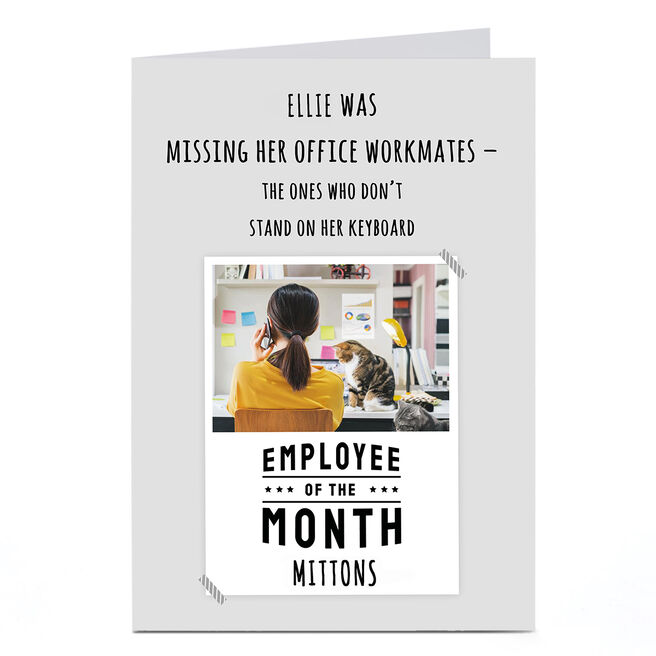 Photo Working From Home Card - Employee of the Month