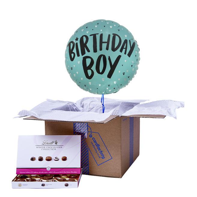Birthday Boy Balloon Balloon & Chocolate Box