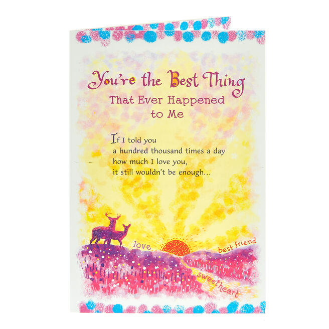 Blue Mountain Arts Card - You're The Best Thing…
