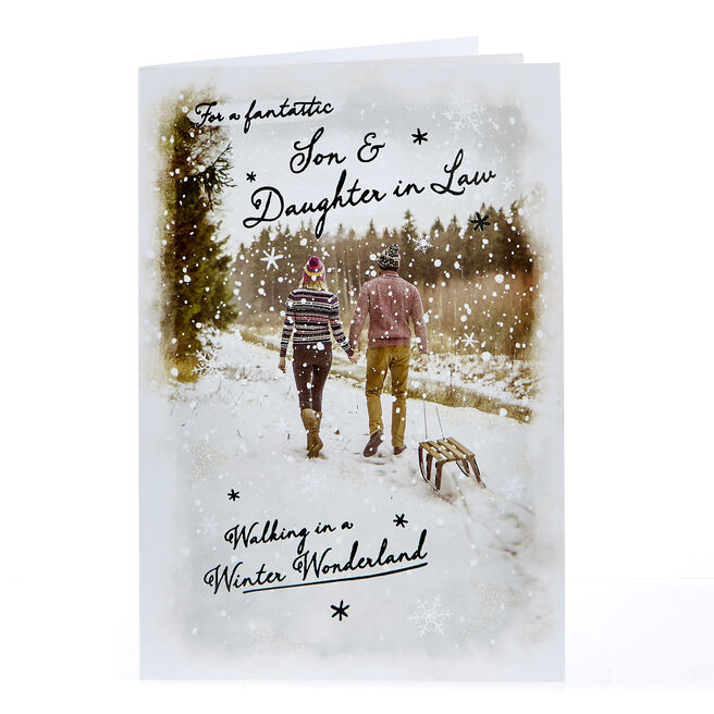 Christmas Card - Fantastic Son & Daughter In Law