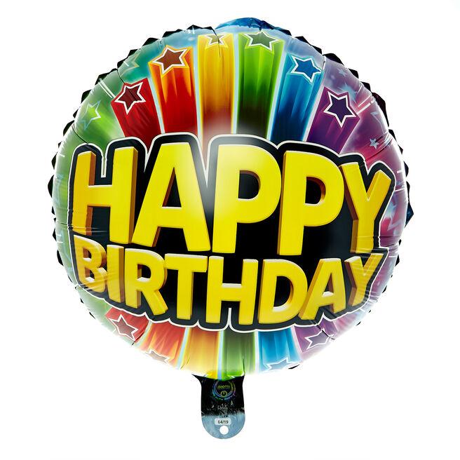 Happy Birthday Light-Up LED 22-Inch Foil Helium Balloon