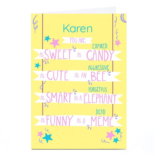 Personalised Raluca Farcas Card - As Sweet As...